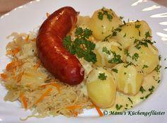 Manus Küchengeflüster: Ananas-Sauerkraut mit Knackwurst