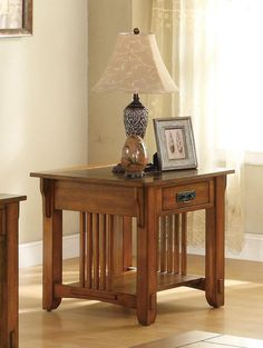 Coaster Furniture - End Table In Oak - 702007