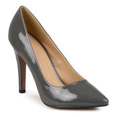 Journee Collection Tokyo Women's High Heels, Girl's, Size: 7.5 Wide, Grey
