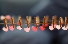 Love notes on the clothesline