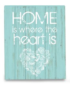 Loving this 'Home Is Where the Heart Is' Wood Box Sign on #zulily! #zulilyfinds