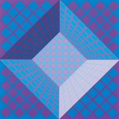 Victor Vasarely Pictor  Edition: 60  Medium:Screenprint  Size: 83 cm x 77.3 cm  Signed
