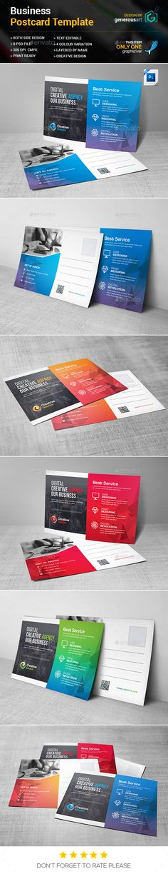 Buy Business Postcard by generousart on GraphicRiver. File Information: Easy Customizable and Editable Postcard in with bleed CMYK Color Design in 300 DPI Res. Postcard Template, Postcard Design, Direct Mail Design, Business Postcards, Landscape Design, Green Landscape, Buy Business, Tool Design, Design Inspiration