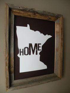 Minnesota Home Print by fortheloveofmaps on Etsy, $22.00