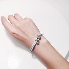 braided leather crystal stone bracelet - cool color for summer☀️ ️ #ynsdavidson #bracelet #gold #jotd #jewelry #fashionjewerly #jewelswag #instajewelry #dailyjewelry #chic #modern