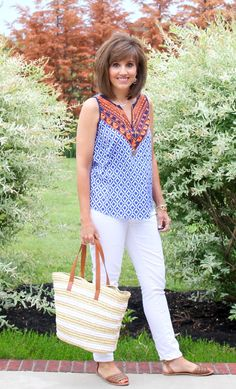 Dear Stitch Fix Stylist. I love her tribal sleeveless top. It would be great if you can send me something similar to this in my next fix. Thank you so much.