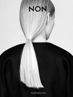 NON campaign AW14/15 Malwina Garstka Modelplus photo. Kasia Bielska thisisnon.com black 100% merino wool fabric