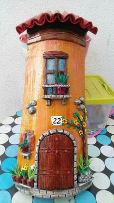 Clay Wall Art, Play Clay, Bottle Painting, Fairy Houses, Pebble Art, Paper Mache, Biscuit, Arts And Crafts, Bird