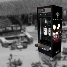 Branded Modular wine dispenser for newly launched Whoosah brand