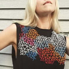 Hanes shirt/muscle tee/prisms  #friyay #embroidery