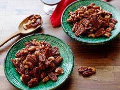 Slow-Cooker Spiced Nuts- Oven space is always at a premium around the holidays, and these slow-cooker spiced nuts won't claim any of it. They're so good and so easy, though, that you'll want to use this method all year round.