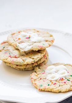 Marshmallow sprinkle sugar cookies are so fun and yummy!