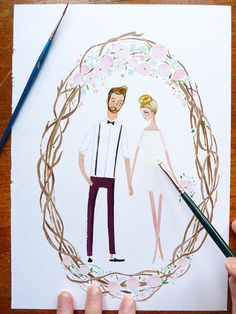 Custom Wedding Portrait - Jolly Edition. These are amazing.