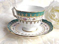 BLACK FRIDAY SALE Aynsley Teacup and by AgedwithGraceVintage