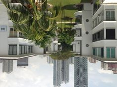 This is Tiong Bahru estate located in Singapore. Housing block showing the old with the new residential building.