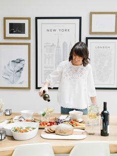 Tips on how to create the perfect lunch or dinner party for your friends and family, including an easy and delicious salad that you can make in minutes Easy Salad Recipes, Easy Salads, Girl With Green Eyes, Brunch, Dinner, Create, Gallery Walls, Party, Instagram Posts