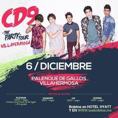 CD9 en Villahermosa. 6 de diciembre de 2014 en el Palenque de Villahermosa, Tabasco.
