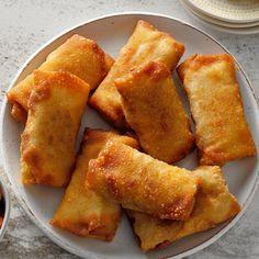 Air-Fryer Mini Chimichangas Tamales, Empanadas, Burritos, Creamed Beef, Bowls, Poblano, Burger, Air Fryer Recipes, Fajitas