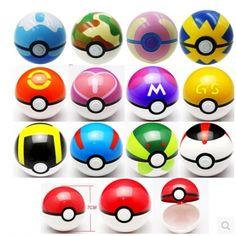 4pcs POKEMON Go Pokeball Pop-up BALL Game Toy Ash Ketchum Poke Ball with random…
