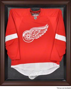 Detroit Red Wings Framed Logo Jersey Display Case