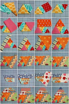 60 degree triangle scrappy quilt tutorialmagnoliabayquilts.blogspot.com