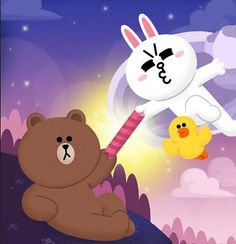 Line Cony, Cony Brown, Line Friends, Cute Cards, Emoji, Card Ideas, Pikachu, Funny, Painting