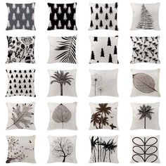 Cheap cushion case, Buy Quality cushion cover home decor directly from China cover decoration Suppliers: Own Photo Cushion Case Scandinavian Pine Tree Pillow Cover Outdoor Cotton Linen Home Decorating Black White Lumbar Pillowcases