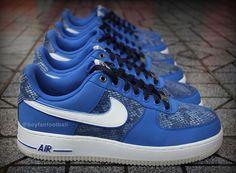 Nike Air Force 1 Low - Blue Snake   Sole Collector. Yessssssssss...