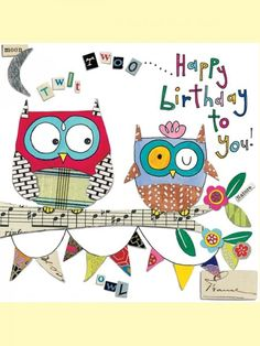 Happy Birthday To You, Owl Card