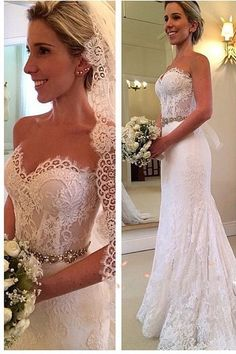 Sweetheart wedding dresses,Elegant Style Vintage bridal dresses,Lace Wedding…