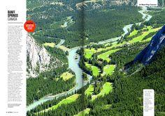 Banff Springs, Magazine Layout Design, Travel Money, Big Picture, Editorial Design, Spreads, Canada, Sandwich Spread, Editorial Layout