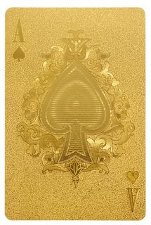 Add some bling to your next poker night with Gold playing cards. Bild Gold, Paper Journal, Gold Playing Cards, Gold Everything, Art Carte, Or Noir, Gold Aesthetic, Stay Gold, Shades Of Gold