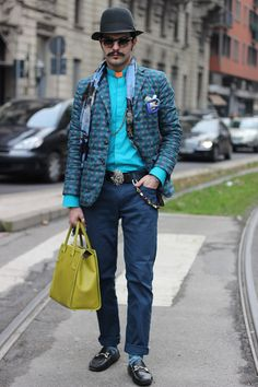 Street style Milan Fashion Week FW15.  For the thirdday ofMilan Fashion Week,Emilio Murolobring us new looks photographed in the streets ofMilanin exclusive forFucking Young!