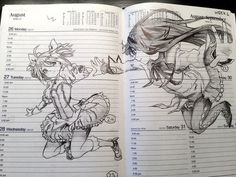 This makes me so very happy that someone could turn a normal planner into this! - 55 Beautiful Anime Drawings  <3 !