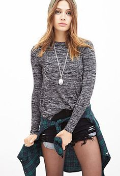 Classic Heathered Knit Top | FOREVER21 - 2055879283