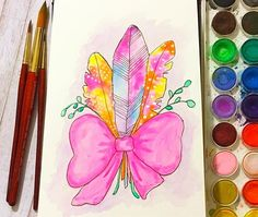 ✨This weekend was so full of art and friends and family! I am so thankful for the amazing people I get to surround myself with!✨ I painted this yesterday morning before anyone else was up! I love experimenting with my watercolors and inks! (And I have a slight obsession with feathers!) What are you obsessing over? What are you looking forward to this week?