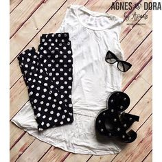 Super simple but cute outfit! Would be super cute with a denim jacket! Link in bio! . . #agnesanddora #agnesanddorabyayano #leggings #legginglife #leggingsarepants #spring #sundayfunday #sundayfunday #shopsmall #onlineshopping