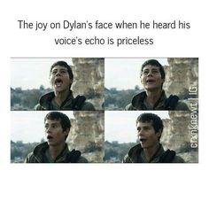 When hos voice echoed he was so happy