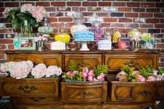Vintage First Birthday, Event Design, First Birthdays, Buffet, Romance, Facebook, Bridal, Furniture, Home Decor