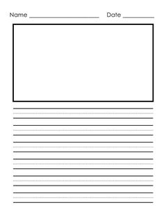 Free 2nd Grade Writing Template | This is front & back and they can ...