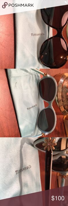 0a591d826710 Tiffany sunglasses Brown with flower on side Used good condition  Accessories Glasses