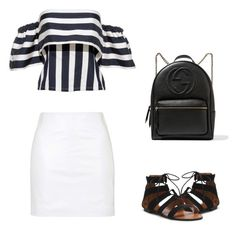 """First Day Of School 5/5"" by rachelsdescription on Polyvore featuring Topshop and Gucci"