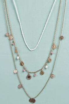 Rose Layered Trinket Necklace at boohoo.com