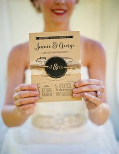 Kraft and Lace Wedding Invitation: Rustic and Whimsical Water Color Barn on Etsy, $2.00