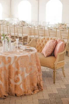 Sweetheart Table in Blush Tones | Take a look - this whole wedding is spectacular | On SMP: http://www.StyleMePretty.com/2013/12/13/sarasota-fl-wedding-at-ca-dzan-mansion/ Katie Lopez Photography