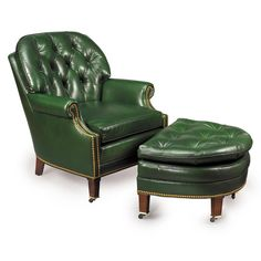 kamille green button tufted leather chair india overstock com