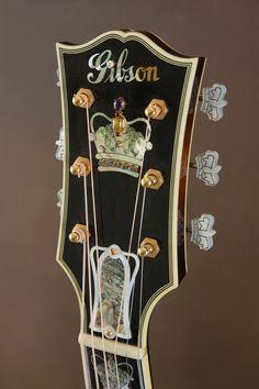 Gibson Monarch SJ 200 Acoustic Guitar - Headstock                                                                                                                                                                                 More
