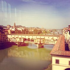 Overlooking the Ponte Vecchio from the Uffizi Gallery March 2014