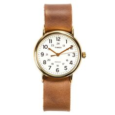 Horween Leather Timex Weekender - Brass | Huckberry