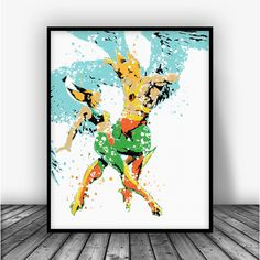 Hawkman and Hawkgirl Art Print Poster From $10.00  #BoysDecor #BoysRoom #AllPrints #GirlsRoom #MarvelArt #Boys #KidsRoom #Girls #KidsWallArt #GirlsDecor